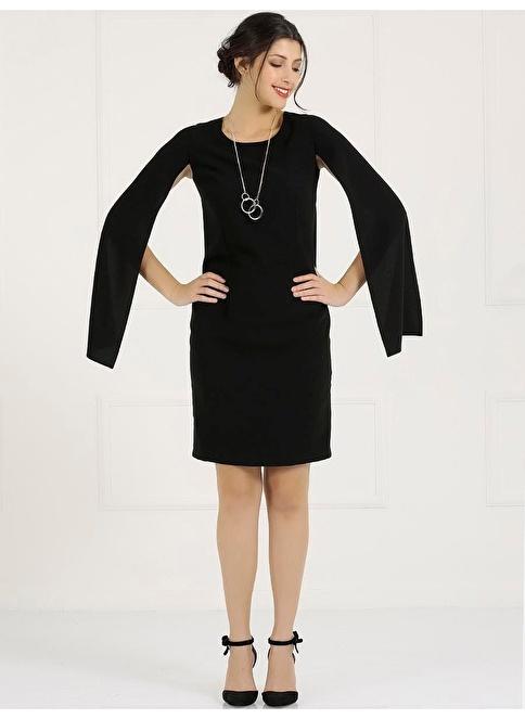 Faik Sönmez Büyük Beden Elbise Siyah